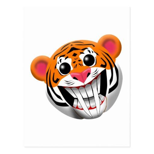 saber-toothed tiger post card