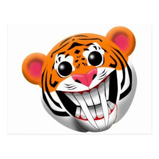 saber-toothed tiger postcard