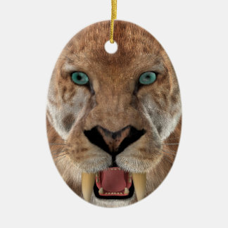 Saber Toothed Ttiger or Smilodon Ceramic Ornament