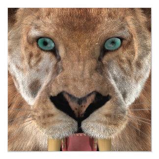 Saber Toothed Ttiger or Smilodon Magnetic Card