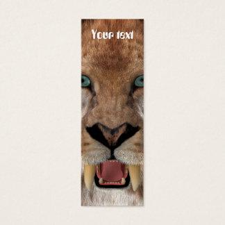 Saber Toothed Ttiger or Smilodon Mini Business Card