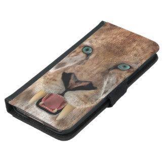 Saber Toothed Ttiger or Smilodon Wallet Phone Case For Samsung Galaxy S5