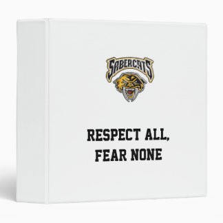 Sabercats Youth Football & Cheer 3 Ring Binder