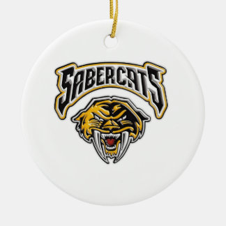 Sabercats Youth Football & Cheer Ceramic Ornament