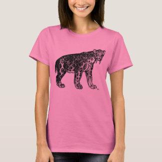 ¡Sabertooth!! Camiseta de las mujeres de Smilodon