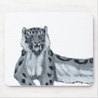 Sabertooth Snow Leopard Mouse Pad