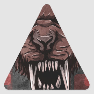 Sabertooth Triangle Stickers