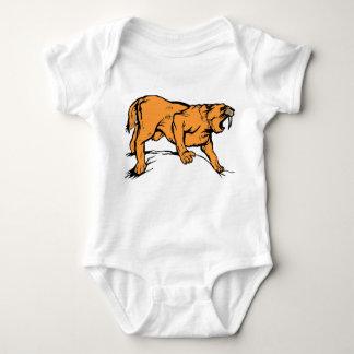 Sabertooth Tiger Baby Bodysuit