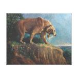 Sabertooth Tiger Canvas Prints