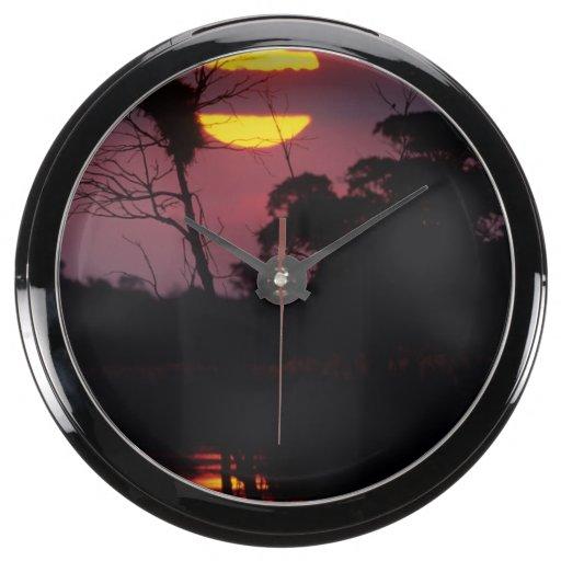 Sabi River At Sunset, Kruger National Park Aquavista Clock