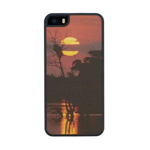 Sabi River At Sunset, Kruger National Park Carved® Maple iPhone 5 Case