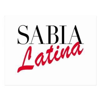 Sabia Latina Postcard