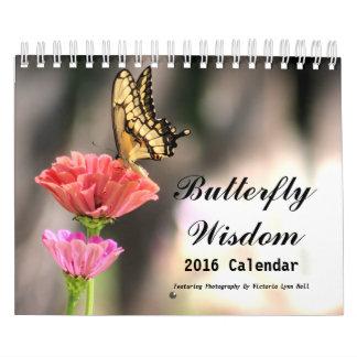 Sabiduría 2016 de la mariposa calendarios de pared