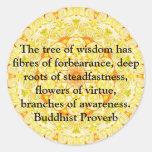 Sabiduría budista usable - el árbol de la etiquetas redondas