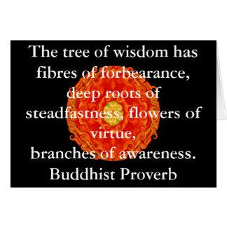 Sabiduría budista usable - el árbol de la sabidurí tarjeta de felicitación