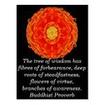 Sabiduría budista usable - el árbol de la sabidurí tarjetas postales