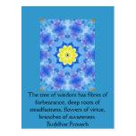 Sabiduría budista usable - el árbol de la sabidurí tarjeta postal