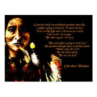 Sabiduría cherokee tarjetas postales