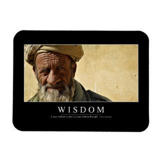 Sabiduría: Cita inspirada 2 Imán De Vinilo