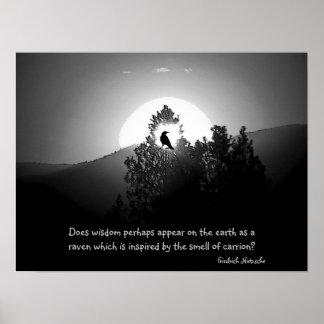 Sabiduría como cuervo poster