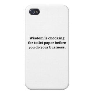 Sabiduría (control del papel higiénico) iPhone 4 cárcasa