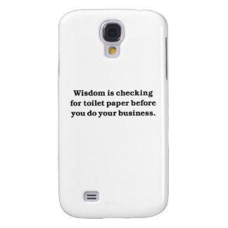 Sabiduría (control del papel higiénico) funda para galaxy s4