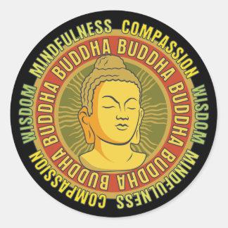 Sabiduría de Buda Pegatina Redonda