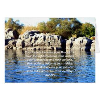 Sabiduría de Gandhi que dice la cita sobre destino Tarjeta De Felicitación