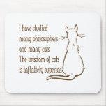 Sabiduría de gatos alfombrillas de raton