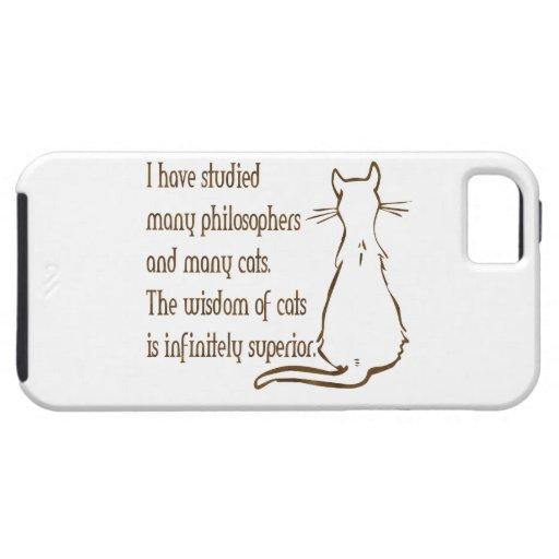 Sabiduría de gatos iPhone 5 Case-Mate carcasa