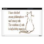 Sabiduría de gatos skins para 43,2cm portátil