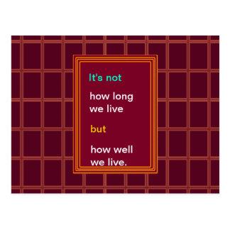 Sabiduría de la introspección: ¿Como de bien vivim Tarjetas Postales