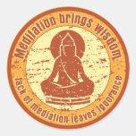 Sabiduría de la meditación de Buda Pegatina