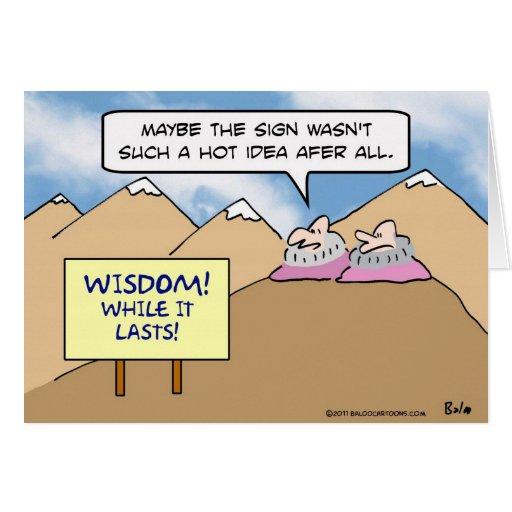 sabiduría de los gurúes mientras que idea caliente tarjeton