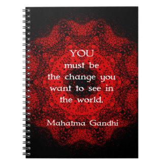 Sabiduría de Mahatma Gandhi que dice sobre la Libretas Espirales