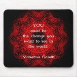 Sabiduría de Mahatma Gandhi que dice sobre la Tapete De Raton