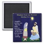 Sabiduría de nuestras madres antiguas imanes de nevera