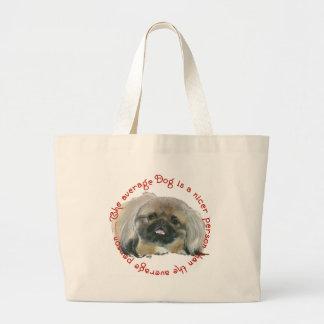 Sabiduría de Pekingese - el perro medio Bolsas De Mano