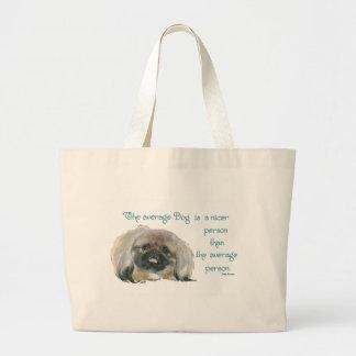 Sabiduría de Pekingese - el perro medio es más agr Bolsa