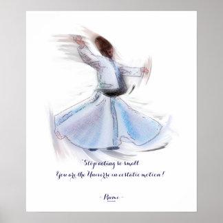 Sabiduría de Sufi de Rumi y del derviche de giro Póster