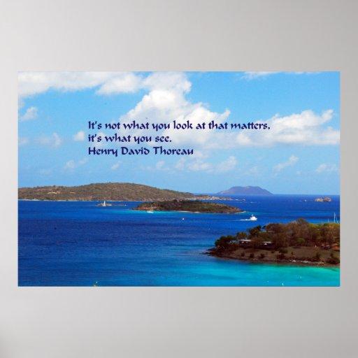 Sabiduría de Thoreau Póster