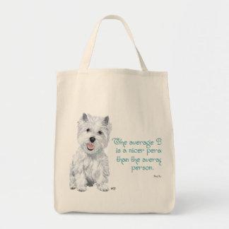Sabiduría de Westie - el perro medio es una person Bolsa De Mano