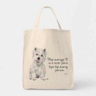 Sabiduría de Westie - el perro medio es una person Bolsas