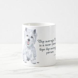 Sabiduría de Westie - el perro medio es una person Taza De Café