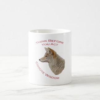 Sabiduría del coyote tazas de café