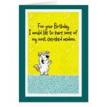 Sabiduría del cumpleaños tarjetón