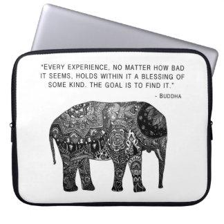 Sabiduría del elefante de la alheña de Buda Mangas Computadora