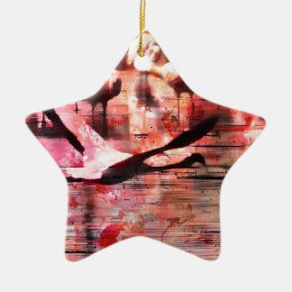 Sabiduría del flamenco ornamento para arbol de navidad