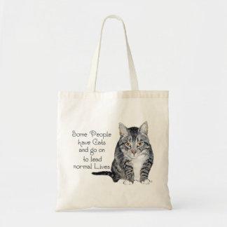 Sabiduría del gato - alguna gente tiene gatos bolsa tela barata
