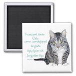 Sabiduría del gato - en épocas antiguas, los gatos iman para frigorífico